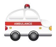 Desenhos animados da ambulância ilustração do vetor
