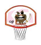 Desenhos animados da aro de basquetebol do pirata Fotografia de Stock Royalty Free
