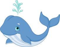 Desenhos animados da baleia Fotografia de Stock Royalty Free