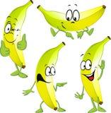 Desenhos animados da banana Foto de Stock
