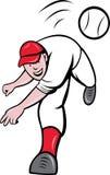 Desenhos animados da batedura do jogador de beisebol Imagem de Stock Royalty Free