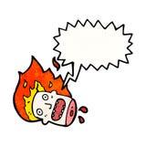 desenhos animados da cabeça do Dia das Bruxas Imagem de Stock Royalty Free