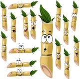 Desenhos animados da cana-de-açúcar
