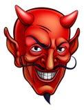 Desenhos animados da cara do diabo Foto de Stock Royalty Free