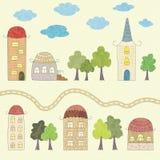 Desenhos animados da casa Fotografia de Stock