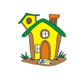 Desenhos animados da casa do conto de fadas Imagens de Stock Royalty Free