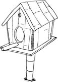 Desenhos animados da casa do pássaro da garatuja Foto de Stock Royalty Free