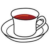 Desenhos animados da chávena de café Imagens de Stock