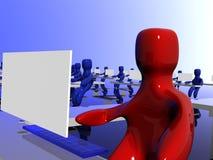 Desenhos animados da competição do escritório Imagens de Stock