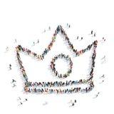 Desenhos animados da coroa da forma dos povos ilustração do vetor