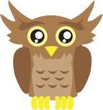 Desenhos animados da coruja Fotografia de Stock Royalty Free
