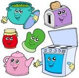Desenhos animados da cozinha Foto de Stock Royalty Free