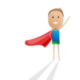 Desenhos animados da criança do super-herói  Fotografia de Stock
