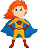 Desenhos animados da criança do super-herói Fotos de Stock Royalty Free
