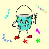 Desenhos animados da cubeta Foto de Stock