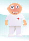 Desenhos animados da enfermeira Foto de Stock