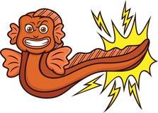 Desenhos animados da enguia elétrica Foto de Stock Royalty Free