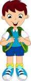 Desenhos animados da escola do menino ilustração royalty free