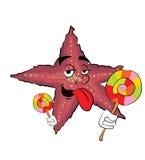 Desenhos animados da estrela de mar Imagem de Stock