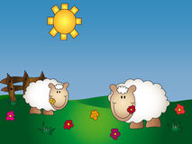 Desenhos animados da exploração agrícola animal ilustração do vetor