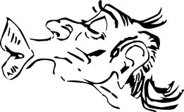 Desenhos animados da face do beijo do Smooch ilustração stock