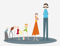 Desenhos animados da família Fotos de Stock