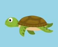Desenhos animados da fauna do mar Fotos de Stock