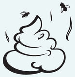 Desenhos animados da fezes ilustração royalty free