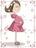 Desenhos animados da gravidez Fotos de Stock Royalty Free