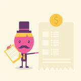 Desenhos animados da ideia da página do homem de negócios Foto de Stock Royalty Free