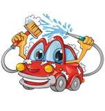 Desenhos animados da lavagem de carros Fotografia de Stock Royalty Free
