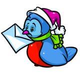 Desenhos animados da letra de Birdie Christmas Imagem de Stock