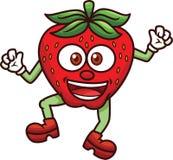 Desenhos animados da mascote da morango Fotografia de Stock
