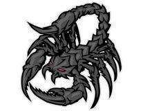desenhos animados da mascote do escorpião pode usar-se para o logotipo do esporte Imagens de Stock