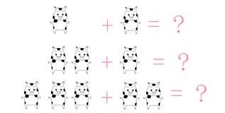 Desenhos animados da matemática Imagem de Stock Royalty Free