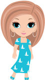 Desenhos animados da mulher Imagens de Stock Royalty Free