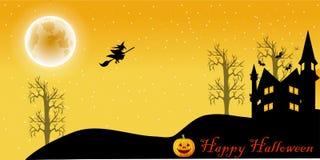 Desenhos animados da noite de Dia das Bruxas ilustração do vetor