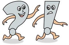 Desenhos animados da pergunta e da resposta ilustração stock