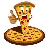 Desenhos animados da pizza Imagens de Stock