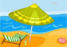 Desenhos animados da praia ilustração do vetor