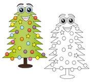 Desenhos animados da árvore de Natal Foto de Stock