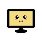 Desenhos animados da tela da tevê Foto de Stock