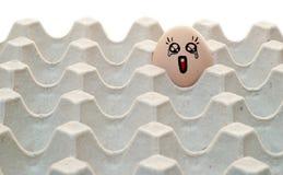 Desenhos animados da tração no ovo Fotografia de Stock