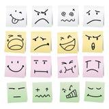 Desenhos animados da tração da mão na nota de papel. Foto de Stock Royalty Free