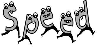 Desenhos animados da velocidade Imagens de Stock