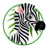 Desenhos animados da zebra Foto de Stock Royalty Free