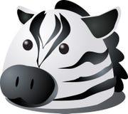 Desenhos animados da zebra ilustração do vetor