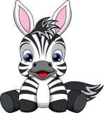 Desenhos animados da zebra do bebê Foto de Stock