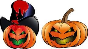 Desenhos animados das abóboras de Halloween Imagens de Stock Royalty Free