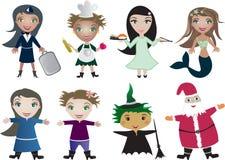 Desenhos animados das crianças do vetor Fotografia de Stock